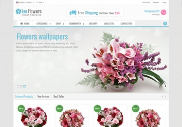 Leo Flowers Prestashop Theme