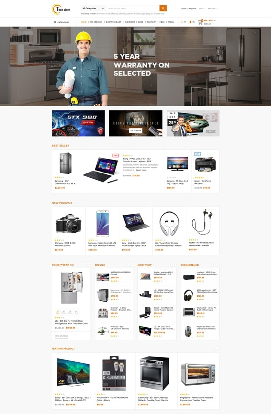 Leo Tech Shop Prestashop Theme