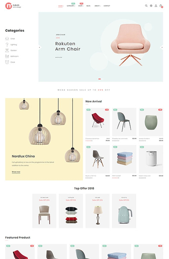 Meubles - Home Design Prestashop Theme