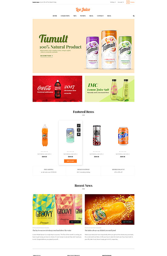 Leo Juice Store Prestashop Theme