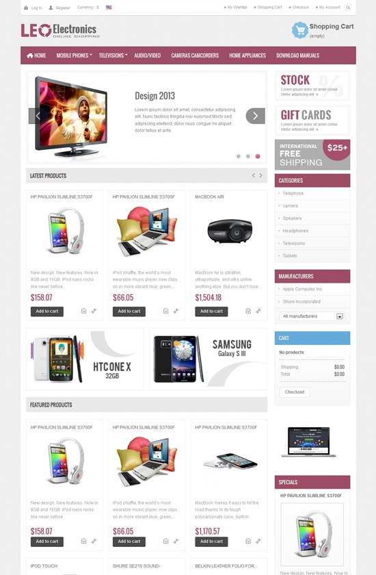 Leo Electronics Prestashop Theme