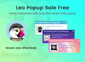 Leo Popup Sale Free PrestaShop Module
